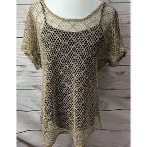 NWOT Maurices Open Knit Short Sleeve Sweater